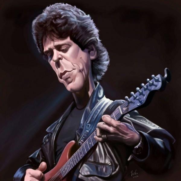 Caricatura de Lou Reed