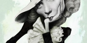 Caricatura de Marlene Dietrich