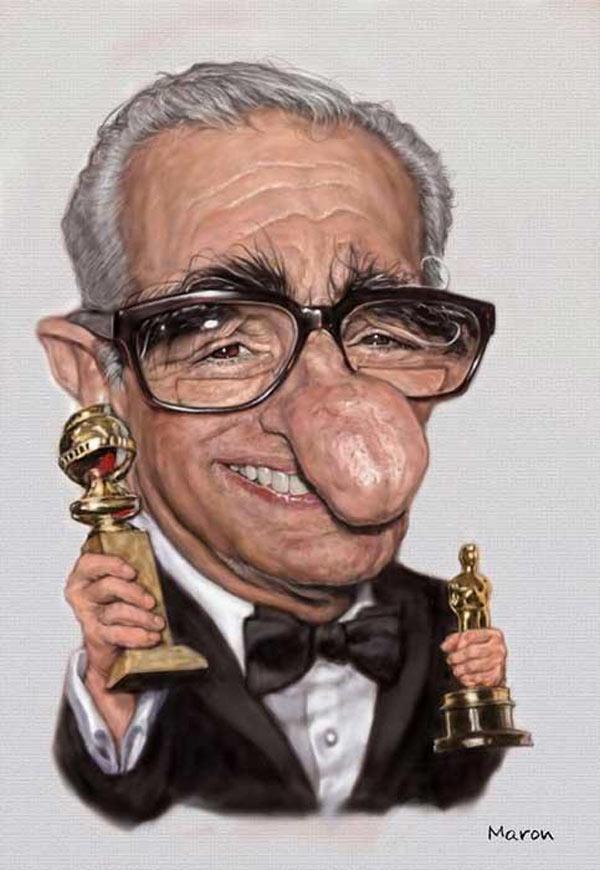 Caricatura de Martin Scorsese