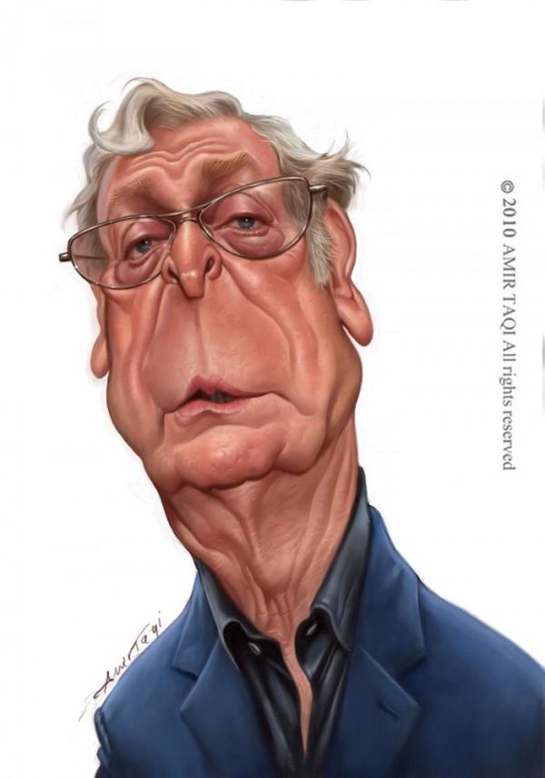 Caricatura de Michael Caine