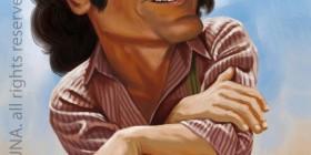 Caricatura de Michael Landon como Charles Ingalls