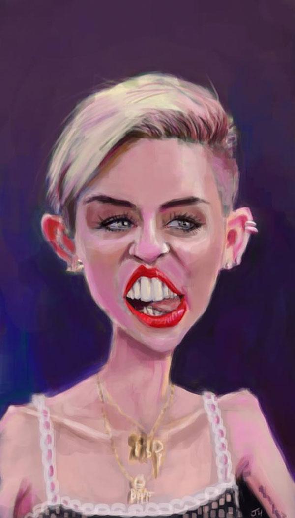 Caricatura de Miley Cyrus