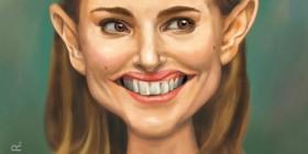 Caricatura de Natalie Portman