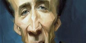 Caricatura de Nicolas Cage