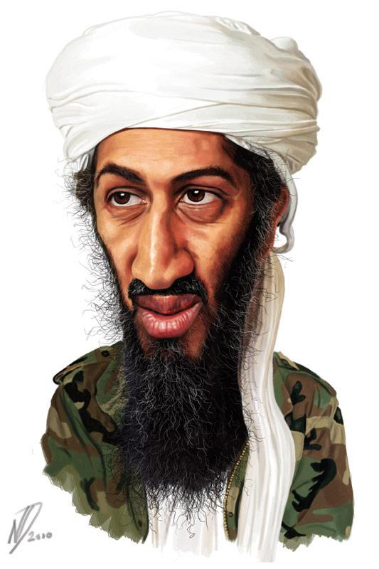 Caricatura de Osama Bin Laden