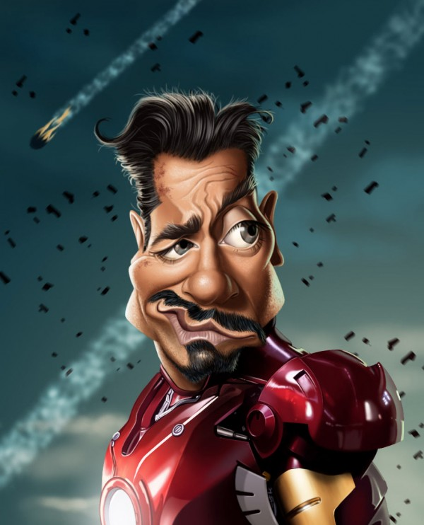 Caricatura de Robert Downey Jr.