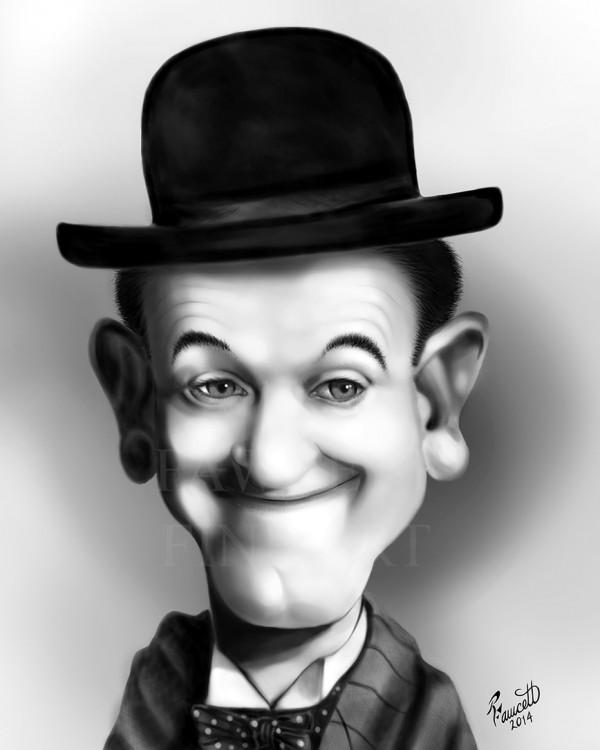 Caricatura de Stan Laurel