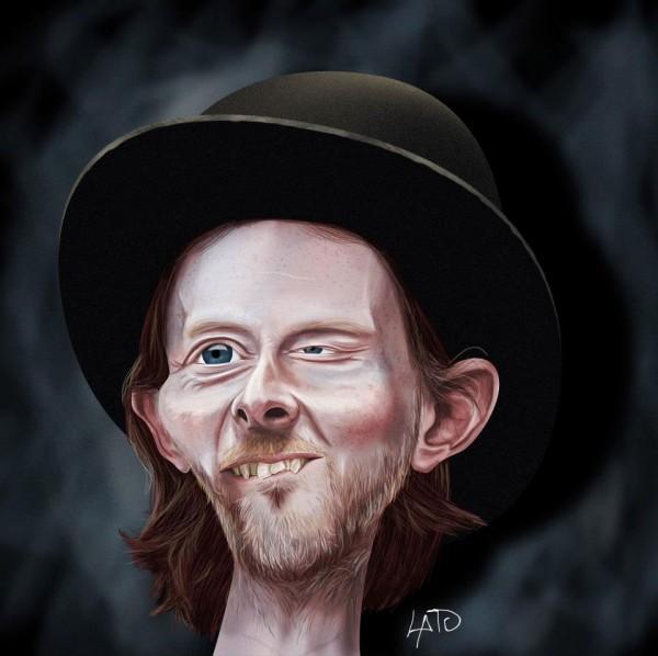 Caricatura de Thom Yorke
