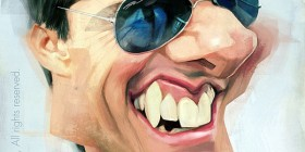 Caricatura de Tom Cruise