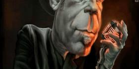 Caricatura de Tom Waits