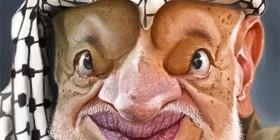 Caricatura de Yasir Arafat