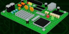 Circuito impreso hecho con LEGO