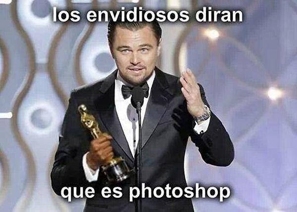 DiCaprio con el Oscar
