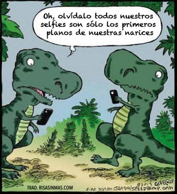 Dinosaurios y las selfies
