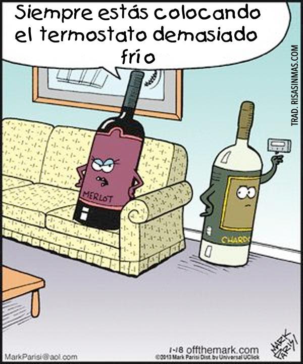 Discusión entre pareja de vinos