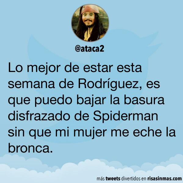 Disfrazado de Spiderman