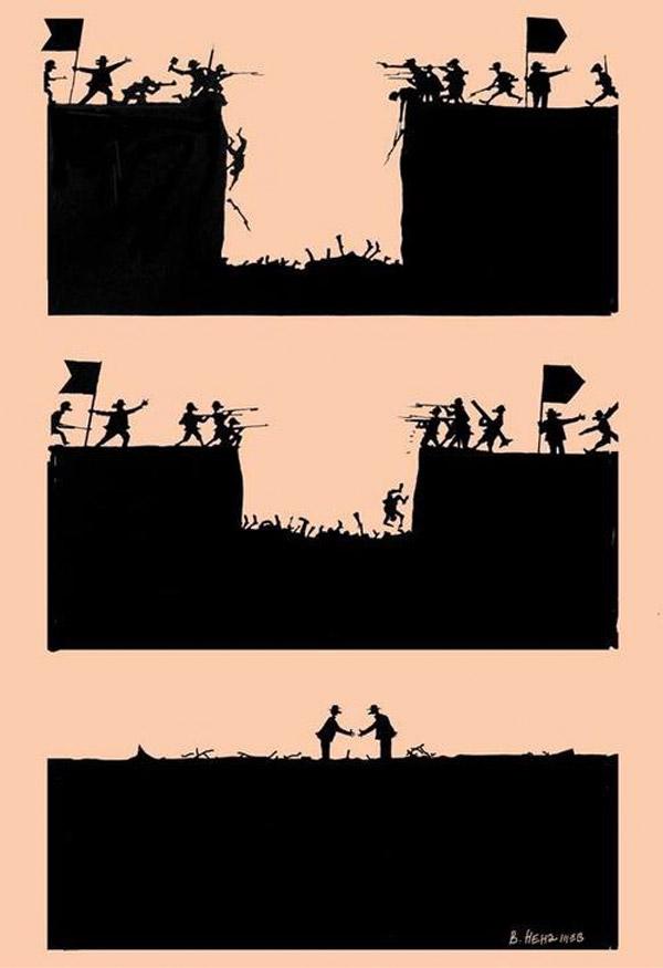 Humor negro: guerras
