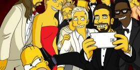 La selfie de los Oscar simpsonizada