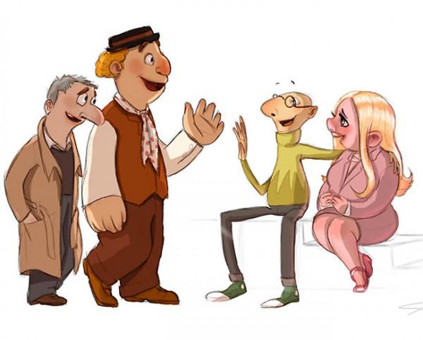 Los Muppets humanizados