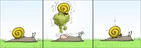 Los gases y los caracoles
