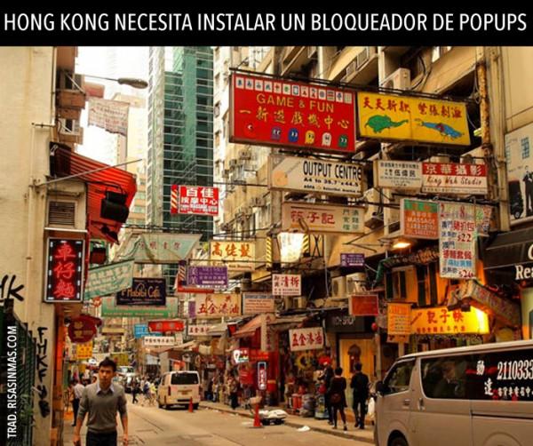 Hong Kong necesita instalar bloqueador de popups