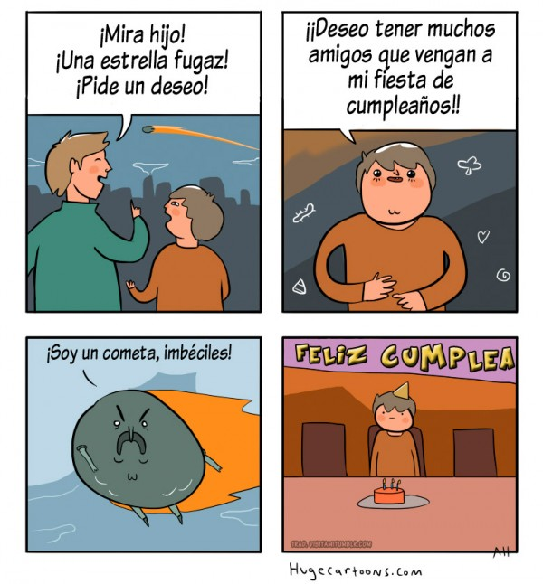 Pidiendo deseos a un cometa