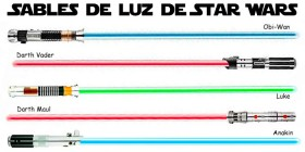 Sables de luz de Star Wars