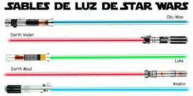 Sables de luz de Star Wars