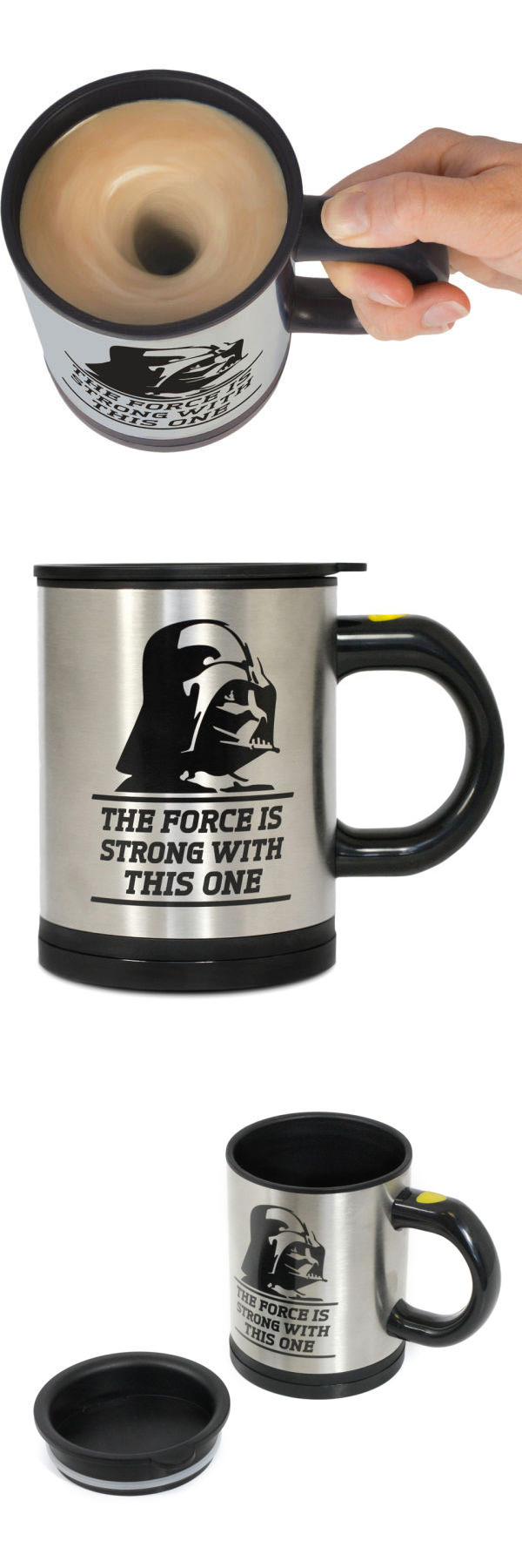 Taza autoremovible Darth Vader. Star Wars