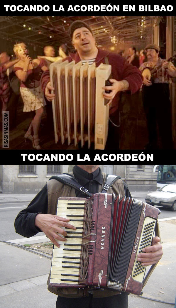 Tocando el acordeón