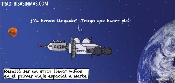 Viaje espacial a Marte con niños