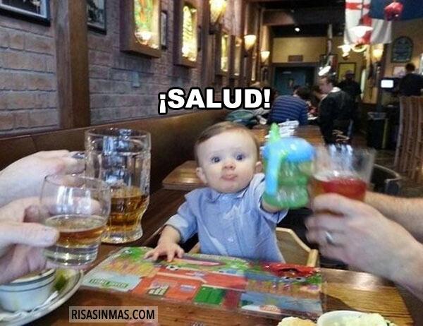 Bebé que apunta maneras