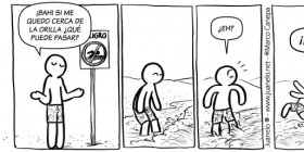 Peligro: no bañarse