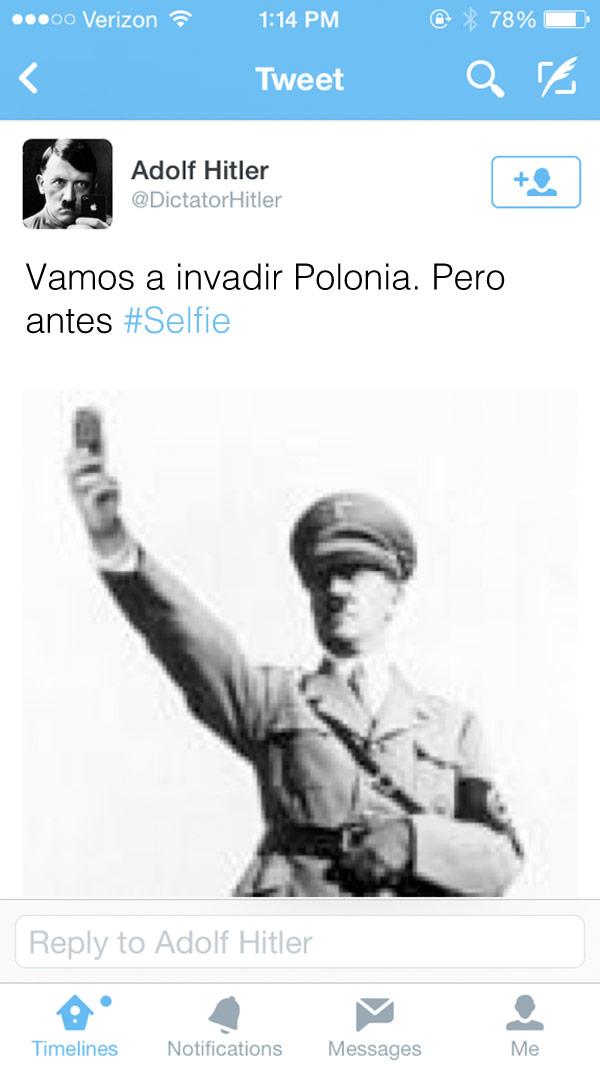 La selfie de Hitler
