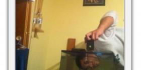 Selfie en la pecera