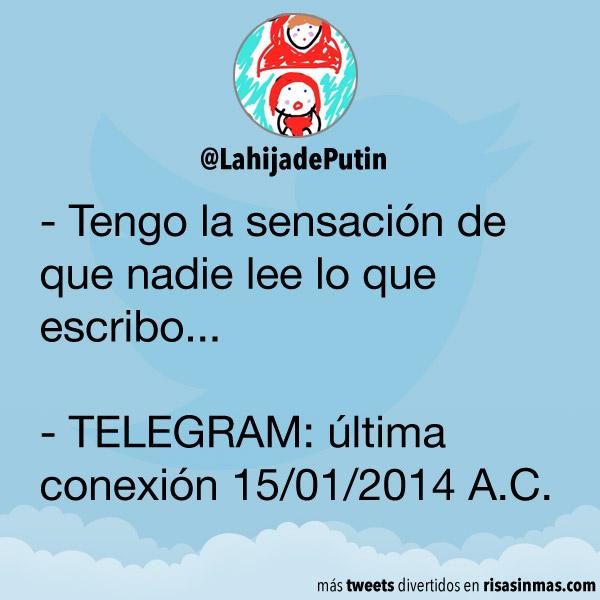 Última conexión de TELEGRAM