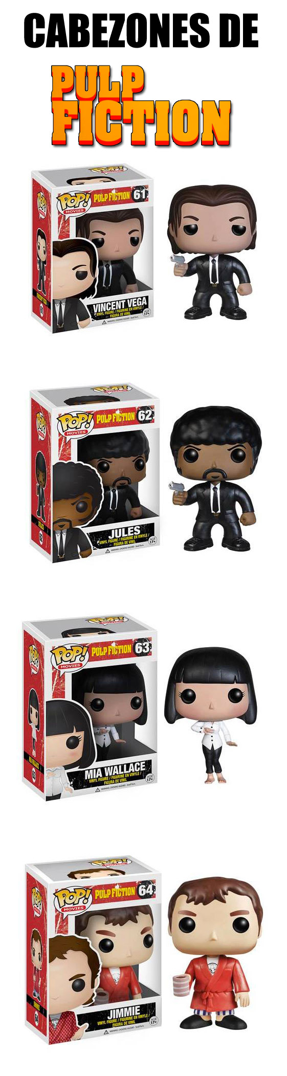 Cabezones de Pulp Fiction