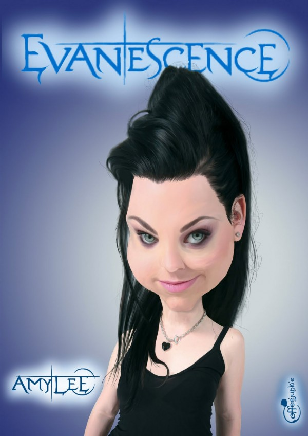 Caricatura de Amy Lee de Evanescence