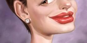 Caricatura de Anne Hathaway