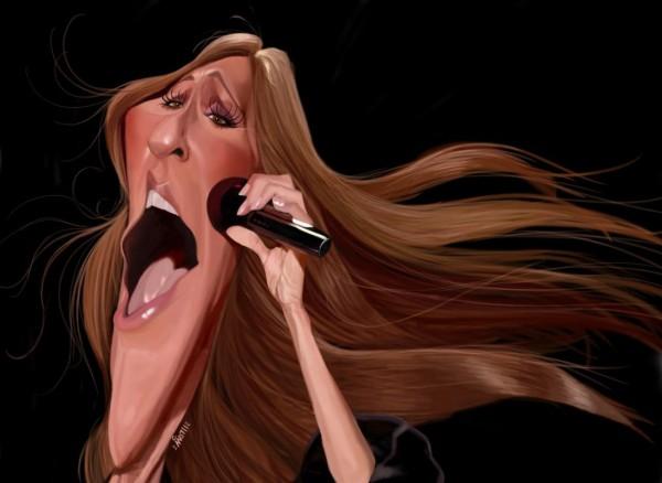 Caricatura de Céline Dion