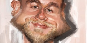 Caricatura de Charlie Hunnam