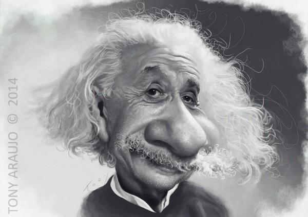 Caricatura de Einstein