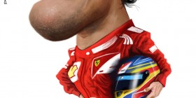 Caricatura de Fernando Alonso