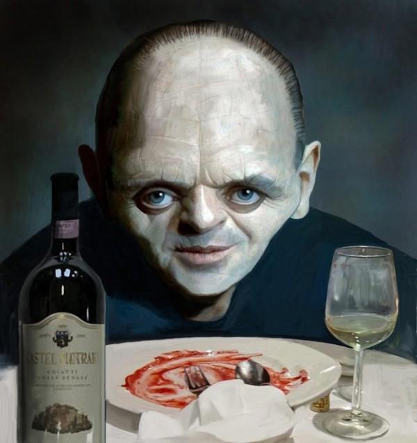 Caricatura de Hannibal Lecter