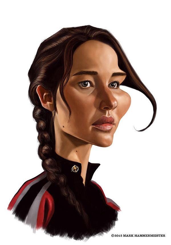Caricatura de Jennifer Lawrence