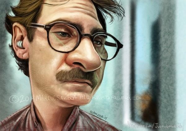 Caricatura de Joaquin Phoenix