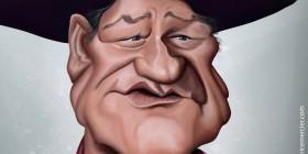 Caricatura de John Wayne