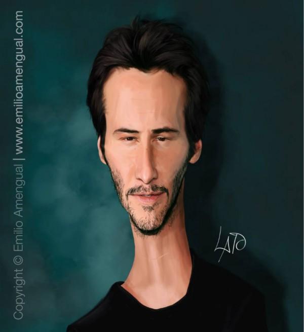 Caricatura de Keanu Reeves
