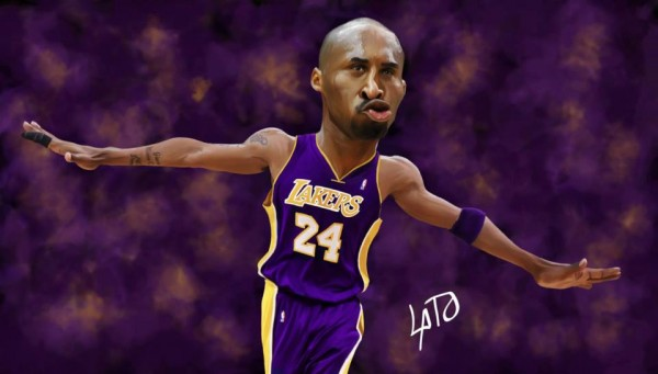 Caricatura de Kobe Bryant