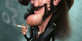 Caricatura de Lemmy Kilmister